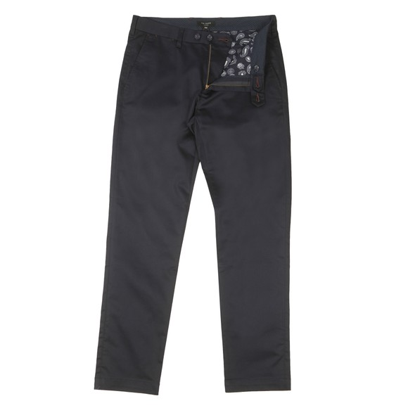 Ted Baker Mens Blue Smart Satin Chino
