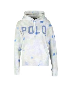 Polo Ralph Lauren Womens Blue Tie Dye Fleece Hoody