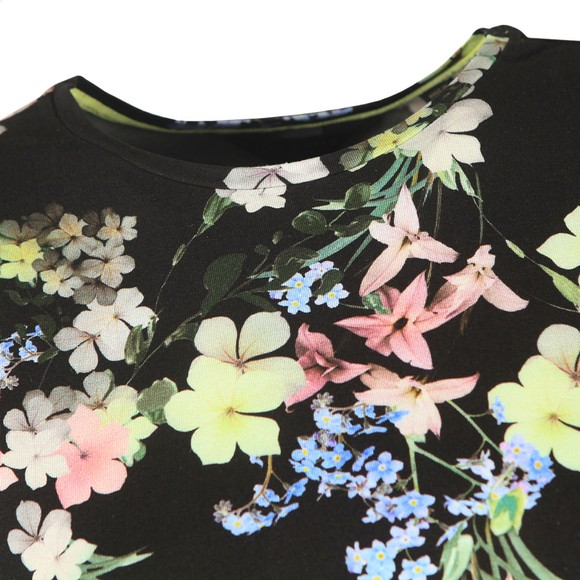 Ted Baker Womens Black Aliey Pergola Printed T-Shirt main image