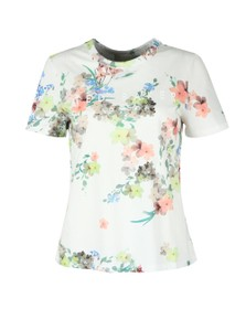 Ted Baker Womens Off-White Lileeyy Pergola Branded T-Shirt
