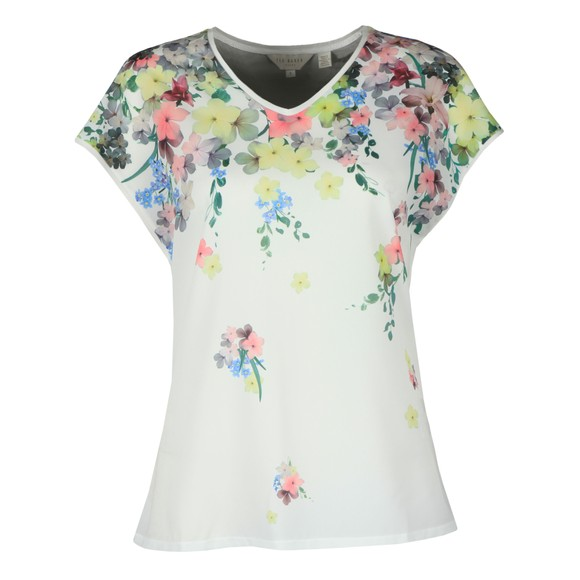 Ted Baker Womens Off-White Alysin Pergola Woven Front Tee