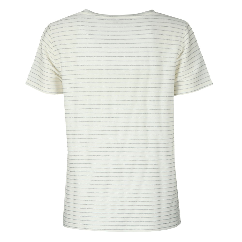Giianai V Neck Relaxed Striped T-Shirt main image