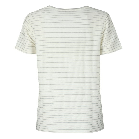 Ted Baker Womens Off-White Giianai V Neck Relaxed Striped T-Shirt main image