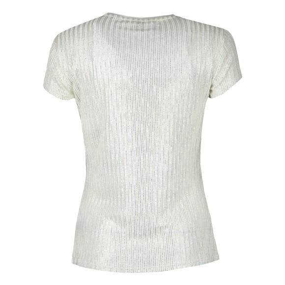 Ted Baker Womens Off-White Catrino Metallic Fitted T-Shirt main image