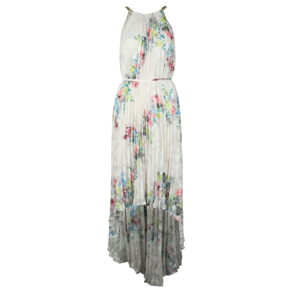 Threlin Pergola Pleated Halterneck Dress main image