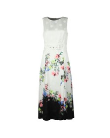 Ted Baker Womens Off-White Camylle Pergola Belted Midi Dress