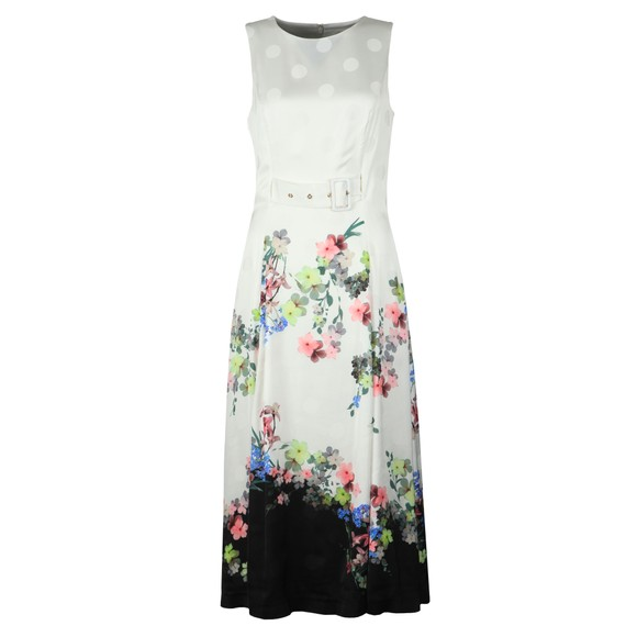 Ted Baker Womens Off-White Camylle Pergola Belted Midi Dress main image
