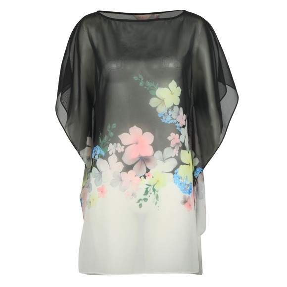 Ted Baker Womens Black Nardiaa Pergola Square Cover Up
