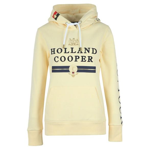 Holland Cooper Womens Yellow Classic Hoody