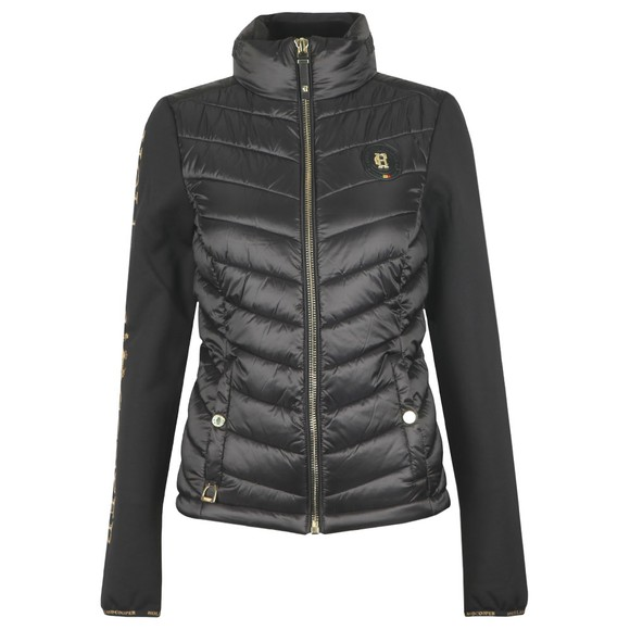 Holland Cooper Womens Black Equi Hybrid Puffer