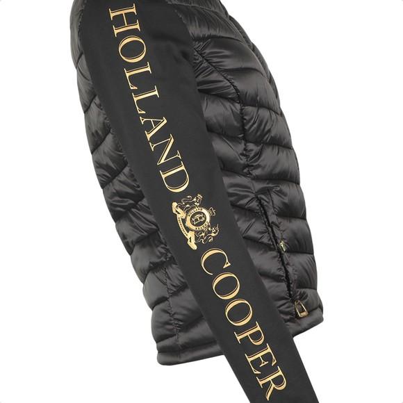 Holland Cooper Womens Black Equi Hybrid Puffer main image