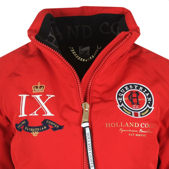 Holland Cooper Womens Red Equi Team Bomber Jacket main image