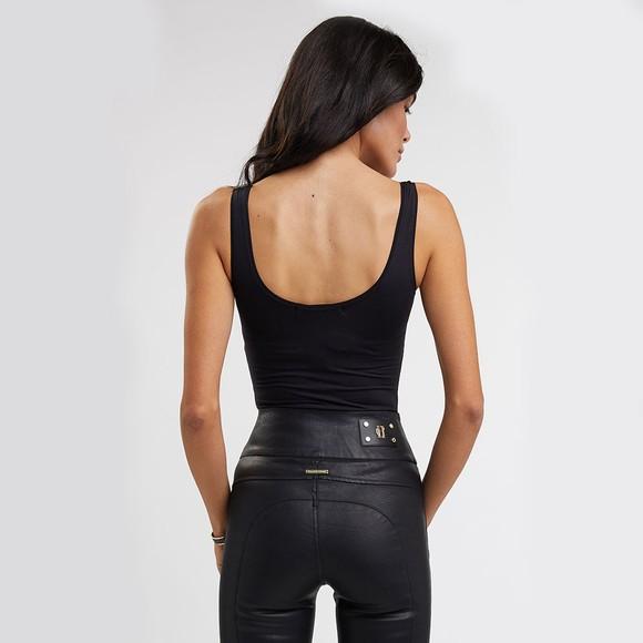 Holland Cooper Womens Black Button Bodysuit Vest main image