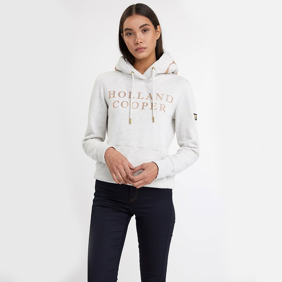 Holland Cooper Womens Grey Essential Hoody