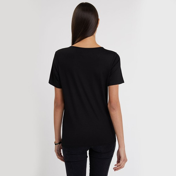 Holland Cooper Womens Black Essential Crystal Crew Neck T Shirt main image