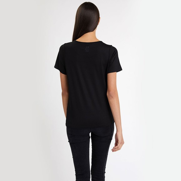 Holland Cooper Womens Black Relax Fit V Neck T Shirt main image
