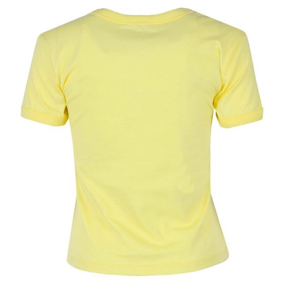 Calvin Klein Jeans Womens Yellow Vegetable Dye Monogram T-Shirt main image