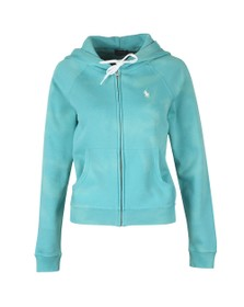 Polo Ralph Lauren Womens Green Full Zip Boyfit Hoody