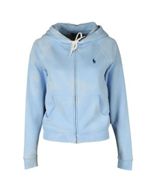 Polo Ralph Lauren Womens Blue Full Zip Boyfit Hoody