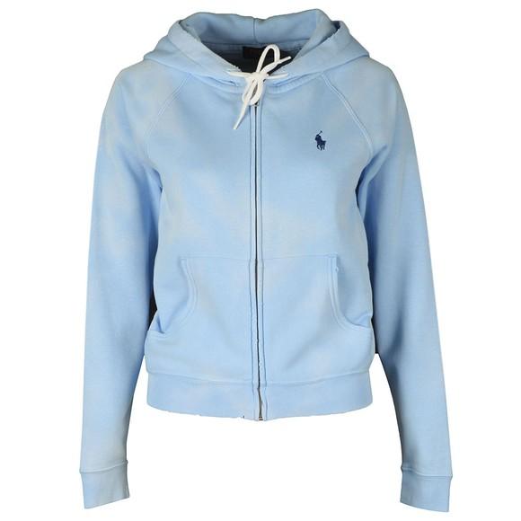 Polo Ralph Lauren Womens Blue Full Zip Boyfit Hoody
