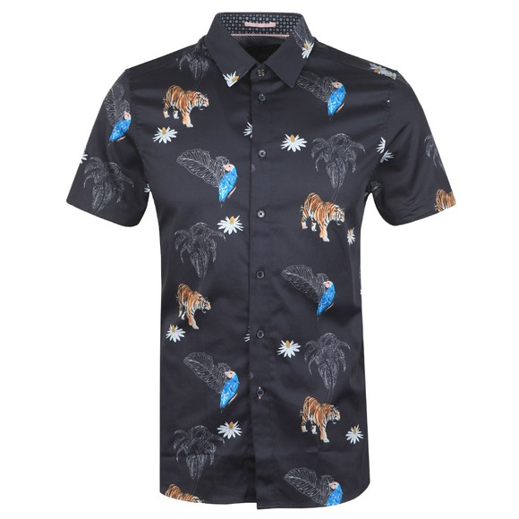 Ted Baker Mens Blue Bold Animal Print Shirt