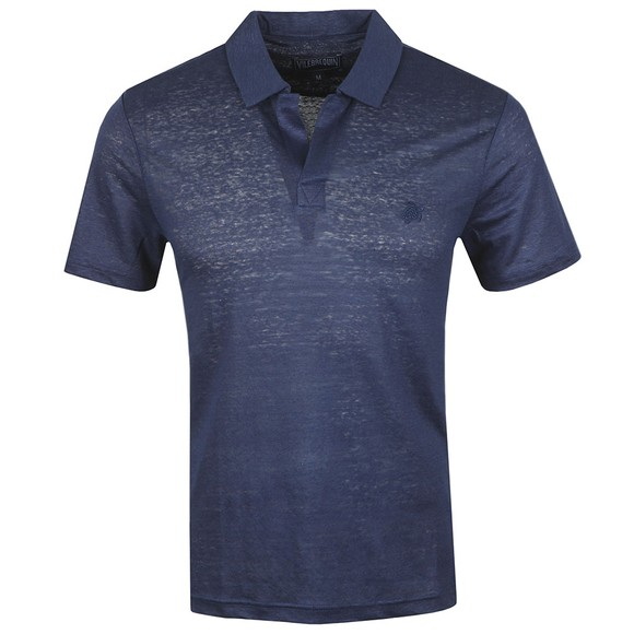 Vilebrequin Mens Blue Pyramid Polo Shirt