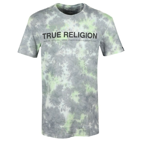 True Religion Mens Grey Batik Crew T Shirt