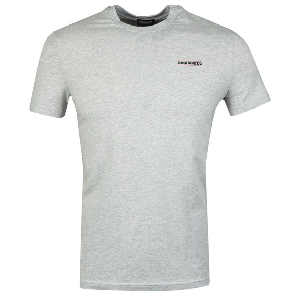 Dsquared2 Mens Grey Chest Logo T Shirt