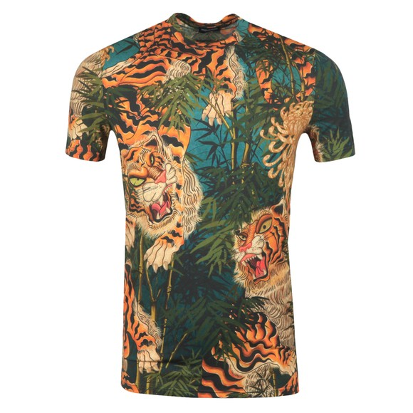 Dsquared2 Mens Blue Allover Print T Shirt