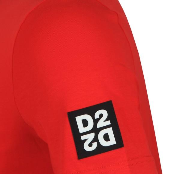 Dsquared2 Mens Red D2D2 Arm T-Shirt