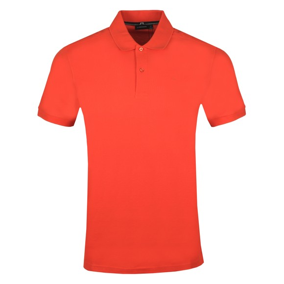 J.Lindeberg Mens Fried Tomato Troy Clean Pique Polo Shirt
