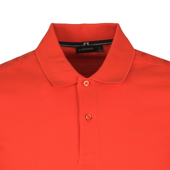 J.Lindeberg Mens Fried Tomato Troy Clean Pique Polo Shirt main image