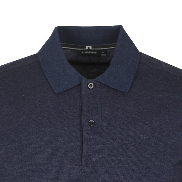 J.Lindeberg Mens Blue Troy Clean Pique Polo Shirt main image