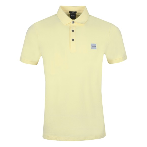 BOSS Mens Yellow Casual Passenger Polo Shirt