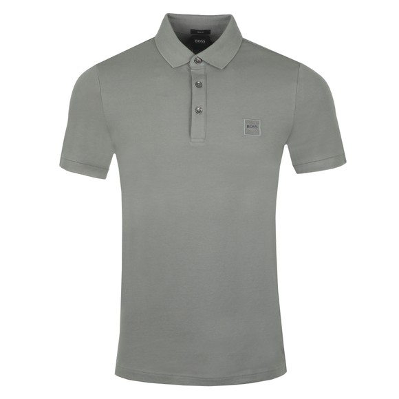 BOSS Mens Grey Casual Passenger Polo Shirt
