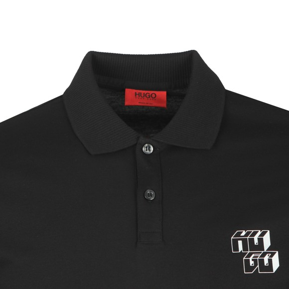 HUGO Mens Black Delion Polo Shirt main image