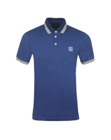 BOSS Mens Blue Casual PTrans Polo Shirt