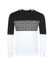 BOSS Mens Black Salbo Iconic Sweatshirt