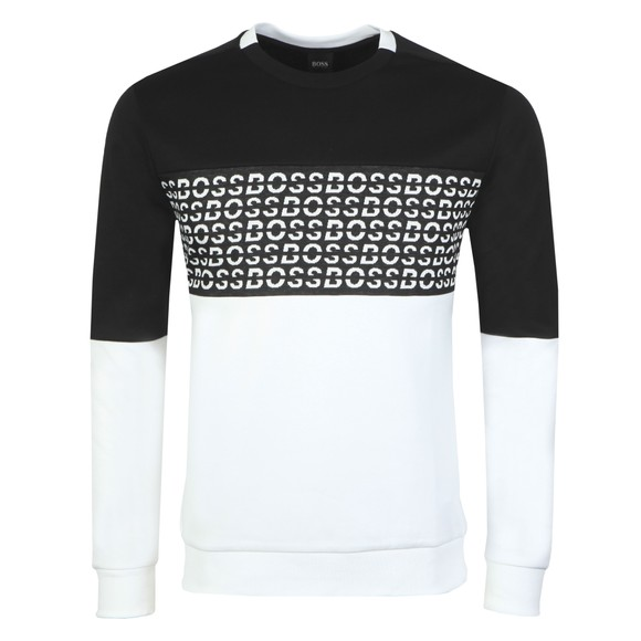 BOSS Mens Black Salbo Iconic Sweatshirt