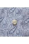 Eton Mens Blue Antique Paisley Poplin Shirt