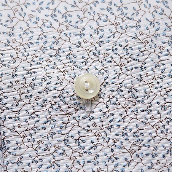 Eton Mens White Micro Floral Shirt main image