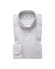 Eton Mens White Micro Floral Shirt