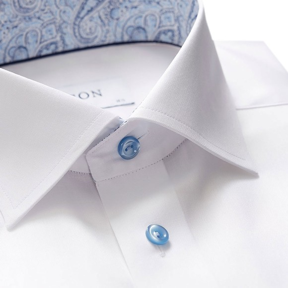 Eton Mens White Antique Paisley Poplin Shirt main image
