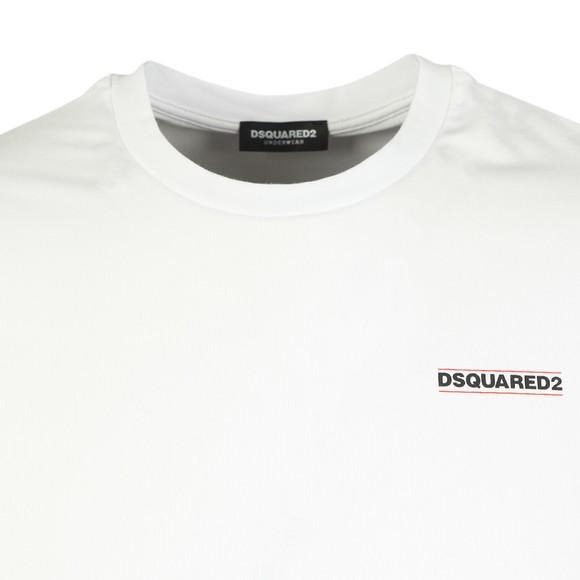 Dsquared2 Mens White Chest Logo T Shirt
