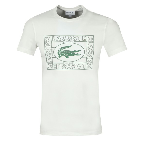 Lacoste Mens White TH5097 T-Shirt main image
