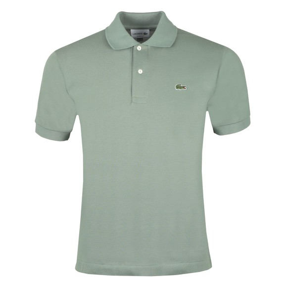 Lacoste Mens Green L1212 Plain Polo Shirt main image
