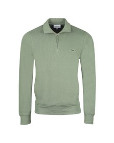 Lacoste Mens Green SH8891 1/2 Zip Sweatshirt