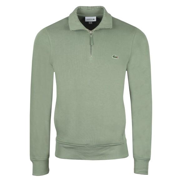 Lacoste Mens Green SH8891 1/2 Zip Sweatshirt main image
