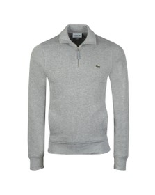 Lacoste Mens Grey SH8891 1/2 Zip Sweatshirt