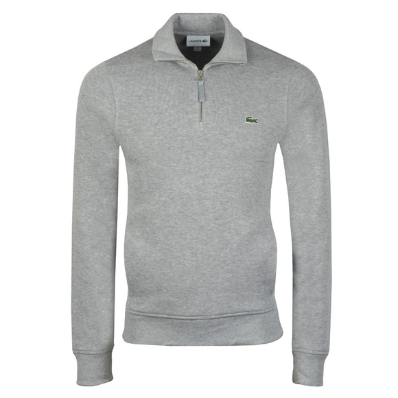 Lacoste Mens Grey SH8891 1/2 Zip Sweatshirt main image